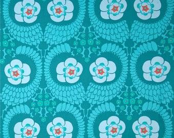 "Amy Butler, Violette, French Twist in Ocean, SATEEN, Designer Home Dec, 55"" Wide, Turquoise Home Dec Fabric, Half Yard, 18"", SAAB015.8OCEA"