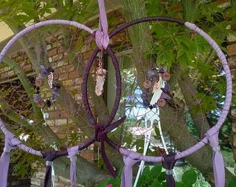 Lavender Dreams Giant Dream Catcher Wedding Ring Dreamcatcher Custom Made to Order