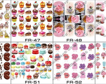 Nail Art Transfer Stickers Water Slide Decals Labels Tattoos Trendy Fashion Popular Style Fruits 2018 2019