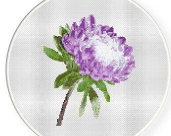 MORE for FREE - Dahlia - Counted Cross stitch pattern PDF - Instant Download - Cross Stitch Pattern - Flowers-Love- Needlepoint #1436