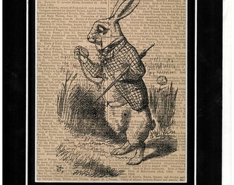 206 Alice in Wonderland Rabbit paper art up cycling