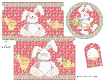 Printable Digital Easter Gallon Size Paint Can Labels and Top And Tag Set
