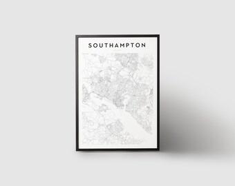 Southampton Map Print