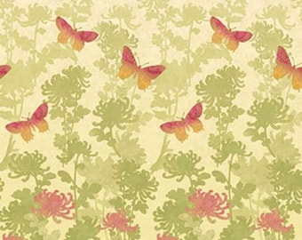 Northcott - Radiance by Deborah Edwards - Ombre Butterfly - Pink (Metallic)