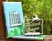 Portland Oregon Sign Model Kit, White Stag Sign, Made in Oregon, Retro Style, Architects Design