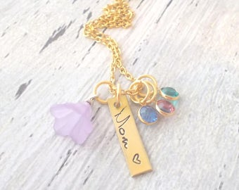 Birthstone Necklace, Birthstone Jewelry, Personalized Mom Jewelry, Grandma Jewelry, Mom necklace, Grandma Necklace, Mom Gift, Grandma Gift