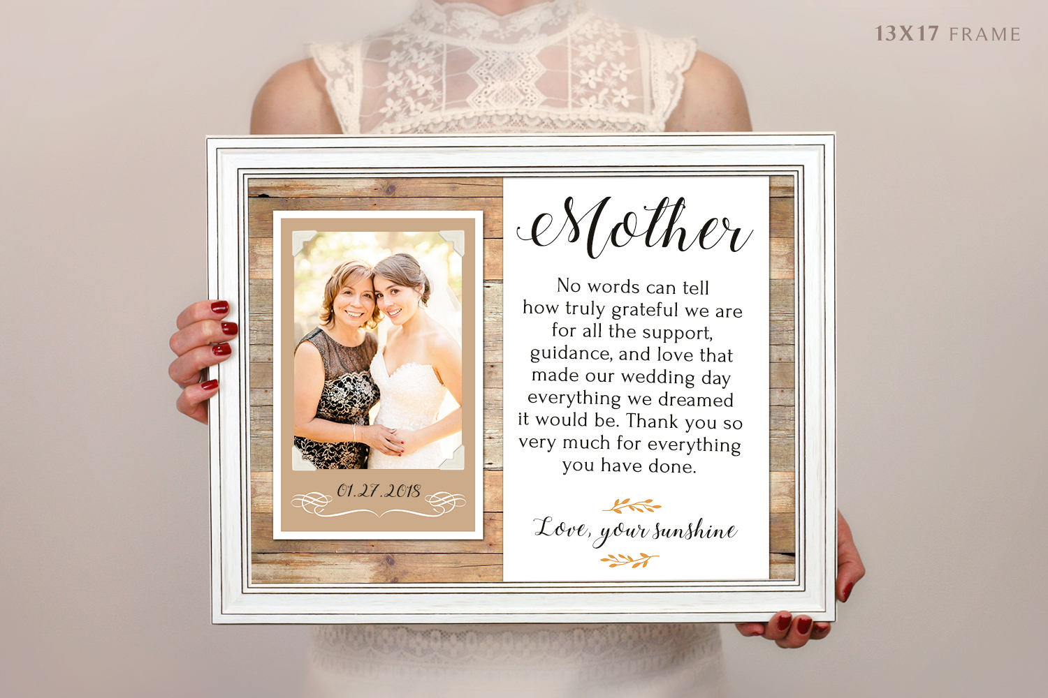 Mother Mom Gift Personalized Picture Frame \'i\'ll Love You Forever. I ...