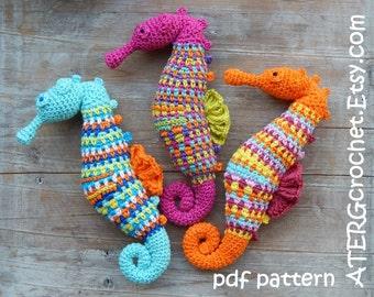 Crochet pattern SEAHORSE by ATERGcrochet