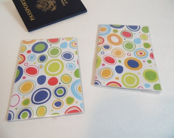 Plastic Passport Cover, Bright Amoebas Passport  Sleeve, Case, Holder