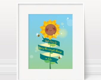 Inspirational quote, new baby gift, nursery decor, kids room decor, kids illustration, nursery art print, kids wall art, baby nursery decor