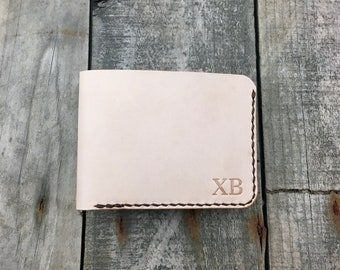 Kangaroo Leather Bifold Wallet, Natural Billfold Wallet, Mens Wallet, Personalised Leather Wallet, Mans wallet, Gift for Him