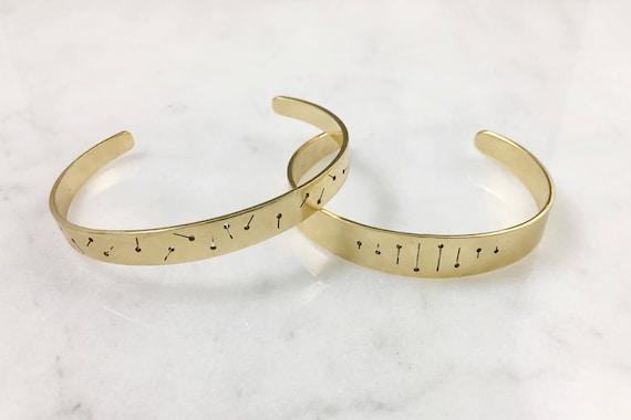 Brass Linear Cuff