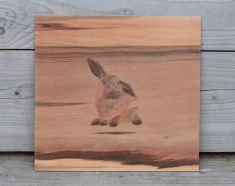 Veneer Rabbit Painting