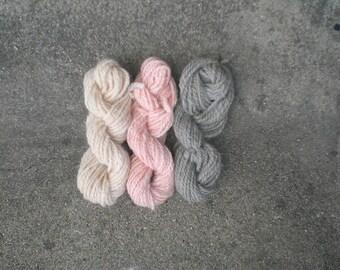 Three sweet pink (natural dye).