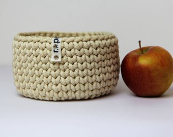 Storage basket, Crochet basket, Knit basket, Home storage, Craft storage, Crochet home decor, creamy white basket, Summer home decor