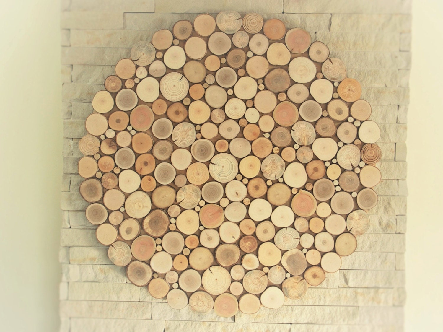tree slices wall art round wall hanging decoration wooden