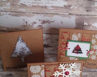 set of 3 Christmas cards