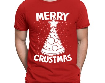 Merry Crustmas Ugly Xmas Christmas Sweater Funny Gift Idea Present Holidays Men's T-shirt OSF-0049