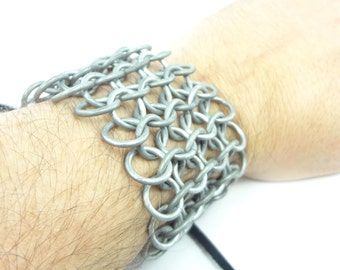 Renaissance Costume Knight's Chainmaille Armor Short Bracer