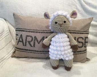 Crochet Lamb Stuffed Animal