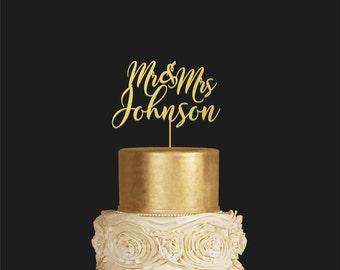 Wedding Cake Topper, Cake Birthday,  Cake Toppers, Custom Wedding, Mr and Mrs, Rustic Cake Topper, Personalized Topper, Cake Topper