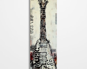 Guitar art, Guitar painting, Music art, Music painting, Gift for a musician, Original textured guitar painting on canvas MADE TO ORDER