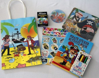 Pirate themed party bags/ boxes with fillings