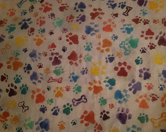 Hand-painted paw-print custom wrapping paper