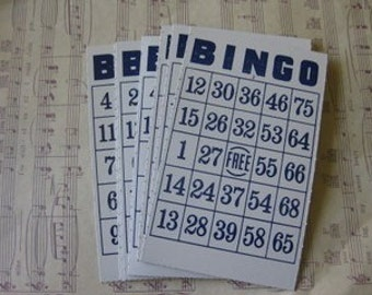 Vintage Bingo Cards- Set of 6