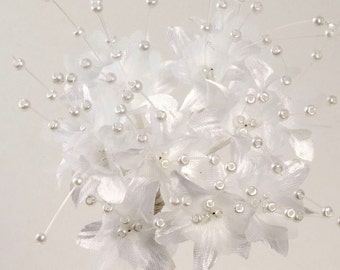 White Babies Breath Gypsophila Pearl Flower - Card Favour Craft Embellishment