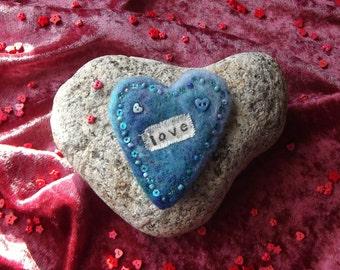 Love Heart Brooch - Heart Broach, Heart Pin, OOAK, SALE