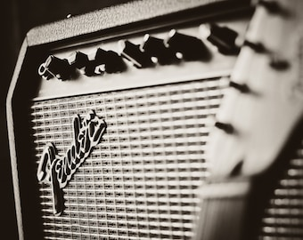 Fender Guitar Amplifier Photograph