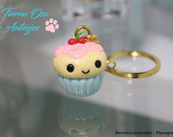 Cold Porcelain Vanilla and Cherry Cupcake