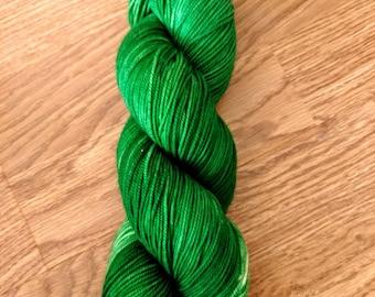 Emerald Green superwash merino wool nylon 75/25 blend 100 gram 245 yards DK weight