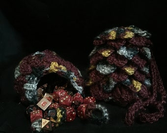 Harry Potter themed Dragon Scale Dice Bag