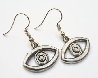 Eyeball Earrings, Opthalmologist Earrings, All Seeing Eye Jewelry, Evil Eye Earrings, Personalized Earrings, Eyes Charm, Vision Earrings
