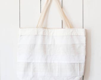 Upcycled One-Of-A-Kind Scrappy Tote Bag 5