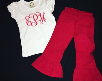 Childrens pants and matching shirt set