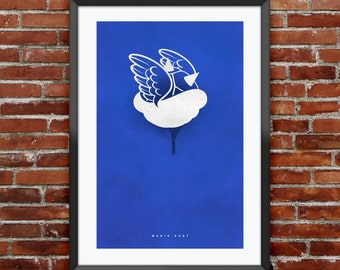 "Mario Kart Blue Shell inspired print 11X17"""