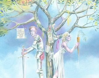 Under The Greenwood Tree - art print by Nancy Farmer