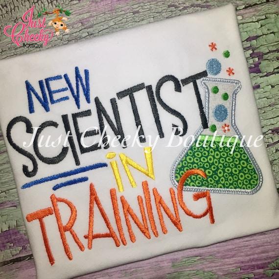New Scientist in Training Embroidered Boys Shirt -Back to School Shirt -First Day of School Shirt -Kindergarten 1st 2nd-Graduation Shirt
