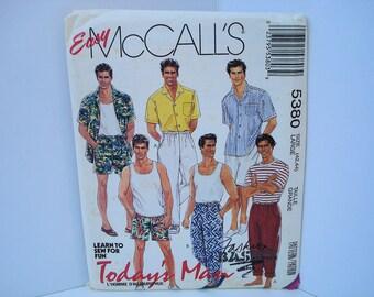 Vintage McCalls Pattern McCalls 5380 Mens Pattern Mens Shirt Pattern Mens Pants Pattern Mens Shorts Pattern Mens Tank Pattern Top Pattern
