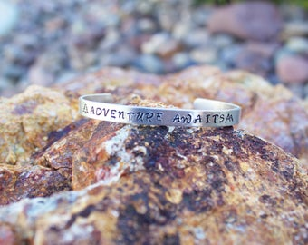 ADVENTURE AWAITS Cuff Bracelet