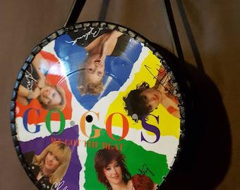 GOGO'S vinyl record purse / clutch