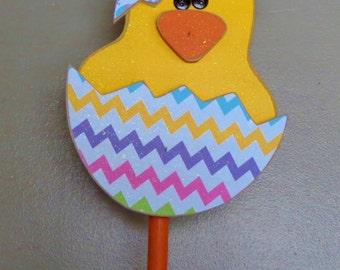 Easter Decor, Spring Decor, Standing chick in Easter egg