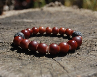 Brown Essential Oils Bracelet/ Beaded Bracelet/ Lava Beaded Bracelet/ Stress Relieving Bracelet