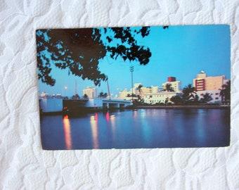 Vintage 1959 Miami Beach Postcard, vintage Hotels Miami Beach, Vintage Miami Beach, Florida Postcard