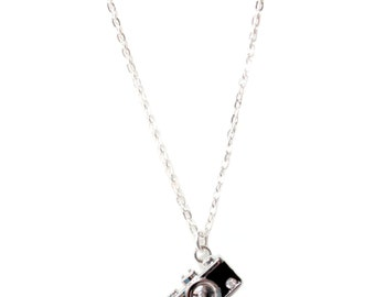 Crystal Camera Charm Necklace