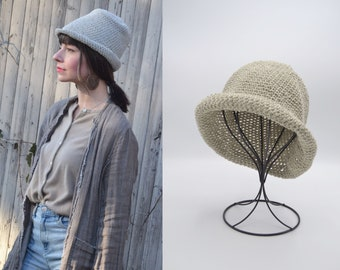 Pack n' Go Sunhats for Women, Funky little Cotton Cloche, Organic Cotton Beach Hat, Linen Hat, White Beach Hat, Short Brim Hat, Gifts