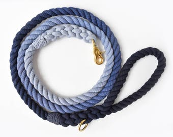 Navy Ombré Rope Dog Leash